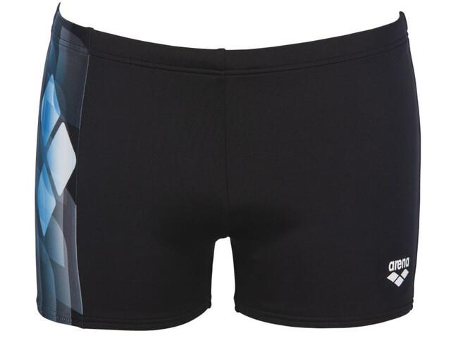 arena Mirrors Shorts Men, black/turquoise